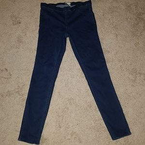 H & M high waisted pull on jeggings size 12